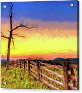 A Gorgeous Blue Ridge Sunrise Ap Acrylic Print