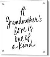 A Grandmother's Love Acrylic Print