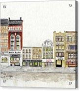 A Greenwich Village Streetscape Acrylic Print
