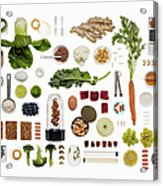 A Healthy Diet Food Grid Acrylic Print