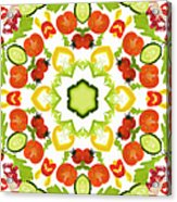 A Kaleidoscope Image Of Salad Vegetables Acrylic Print