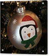 A Merry Christmas Greeting Acrylic Print