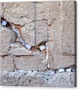 A Piece Of The Wailing Wall Acrylic Print
