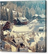 A Quaint Village In The Swiss Alps Acrylic Print