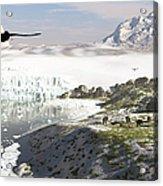 A Receding Glacial Scene Circa 18,000 Acrylic Print