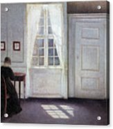 A Room In The Artist's Home In Strandgade, Copenhagen, With The Artist's Wife - Digital Remastered Acrylic Print