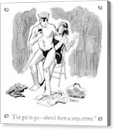 A Sexy Crime Acrylic Print