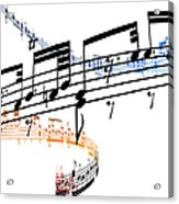 A Stave Of Music Acrylic Print