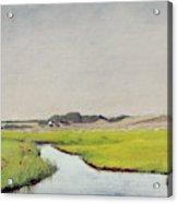 A Stream At Springtime Acrylic Print
