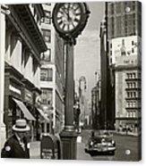 A Street Clock On Fifth Ave., Nyc Acrylic Print
