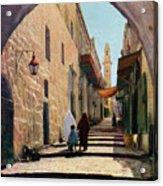 A Street In Jerusalem, Israel, 1926 Acrylic Print