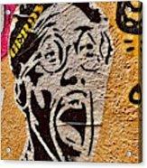 A Terrified Face On A Barcelona Wall  Acrylic Print