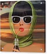 A touch of summer from the 60s Acrylic Print