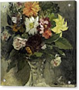 A Vase Of Flowers, 1833 Acrylic Print