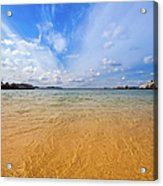 A View Of The Caribbean Sea From The Acrylic Print