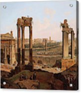 A View Of The Forum Romanum Acrylic Print