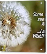 A Weed Or Wish? Acrylic Print