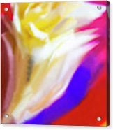 A White Rose In An Abstract Style. Acrylic Print