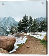 A Winter's Day In The Flatirons Acrylic Print