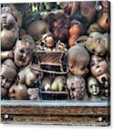 Abandoned Doll Heads Acrylic Print
