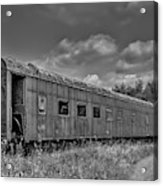 Abandoned Railroad Car In Rural New Brunswick Acrylic Print