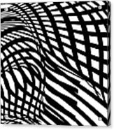 Abstract Black And White Stripe Shape Acrylic Print