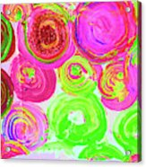 Abstract Flower Crowd Acrylic Print