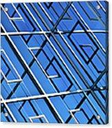 Abstract Geometric Reflection Acrylic Print