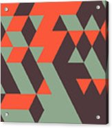 Abstract Geometrical 3d Background. Can Acrylic Print