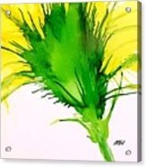 Abstract Ink Yellow Flower Acrylic Print