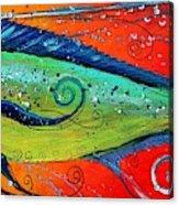 Abstract Mahi Mahi Acrylic Print