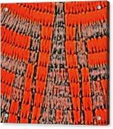 Abstract Oranges Blacks Browns Yellows Rows Columns Angles 3152019 5476 Acrylic Print