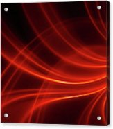 Abstract Red Dynamic Lines Backgrounds Acrylic Print