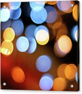 Abstract Spotted Color Pattern Dot Of Acrylic Print