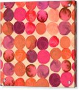 Abstract Watercolored Geometric Circles Acrylic Print