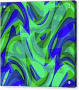 Abstract Waves Painting 0010094 Acrylic Print