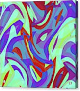 Abstract Waves Painting 0010102 Acrylic Print