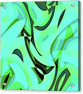 Abstract Waves Painting 0010107 Acrylic Print