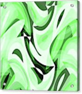 Abstract Waves Painting 0010108 Acrylic Print