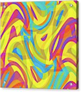 Abstract Waves Painting 0010109 Acrylic Print