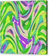 Abstract Waves Painting 0010113 Acrylic Print