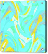 Abstract Waves Painting 0010114 Acrylic Print