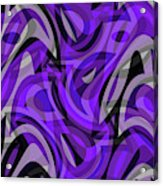 Abstract Waves Painting 0010115 Acrylic Print