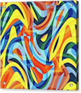 Abstract Waves Painting 007176 Acrylic Print