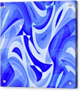 Abstract Waves Painting 007183 Acrylic Print