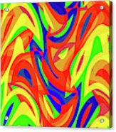 Abstract Waves Painting 007192 Acrylic Print