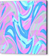 Abstract Waves Painting 007197 Acrylic Print