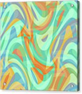 Abstract Waves Painting 007202 Acrylic Print