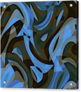 Abstract Waves Painting 007203 Acrylic Print