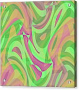Abstract Waves Painting 007214 Acrylic Print